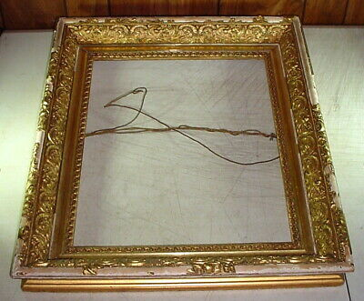 """Large Victorian Antique Wooden Picture Frame for 15x19"""" Art w/ Lots Gesso Damage"""