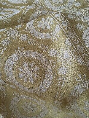 Gorgeous Antique Gold Tone Metalwork Tablecloth Fringe Trim #8