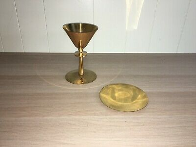 Brass Chalice And Paten Set