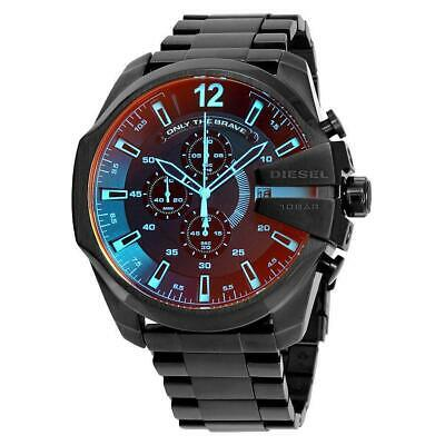 DlESEL DZ4318 NEW Mega Chief Black Ion plated Wrist Stainless Steel NEW Men's