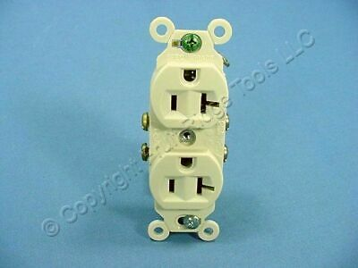 Eagle Electric Ivory INDUSTRIAL Duplex Outlet Receptacle 20A 5352V Plastic Ears
