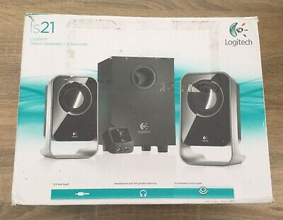 Logitech LS12 Speaker + Subwoofer #Tested & Working# #Sent From Adelaide#