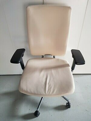 Boss Office Chair Computer Executive Chairs Leather Work Seat Cream
