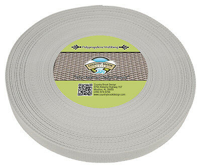 Country Brook Design® 1 Inch Silver Polypro Webbing, 25 Yards