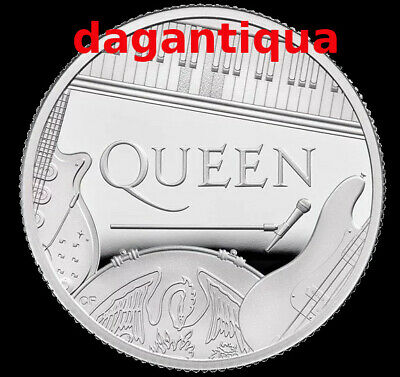 Queen Moneta 2020 Uk Band Commemorativa Silver Proof Coin Ag Royal Gb Mint 6