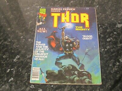 Marvel Preview Present Thor The Mighty Blood Quest Issue 10 Comic (1977)
