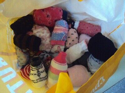 Ladies Socks Job Lot of 26 pairs Multi Coloured in Excellent Condition New & Use