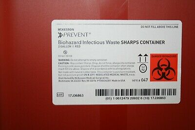 (LOT OF 10) 2 Gallon McKesson Needle Disposal Container Lid tattoo Sharps