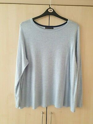 size 22 Marks and Spencer pale blue crew neck jumper
