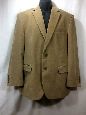 Chaps Ralph Lauren Mens Corduroy Blazer 2 Button Jacket Brown Tan Sport Coat 42R