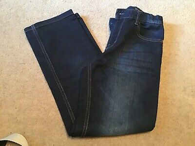 Immaculate Pair Boys Essential Dark Blue Denim Slim Leg Jeans Age 12 Years