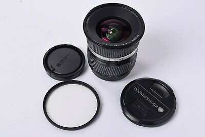 Sony A fit - Konica Minolta 17-35mm f2.8-4 Wide Angle Zoom Lens + Caps & Filter