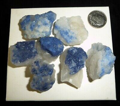 Natural Dumortierite in Quartz Crystal Pieces Brazil 82 grams