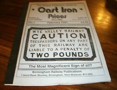Vintage Brochure, The Railway Collectors Guide to Cast Iron Prices1977-1990