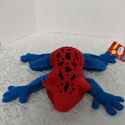 Pluszak Frog Red and Blue Plush Stuffed Animal NEW With Tags
