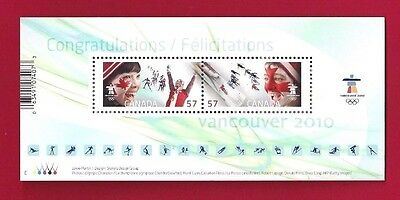 Canada  #2373   2010  SS   The Olympic Spirit    Pristine Post Office Fresh