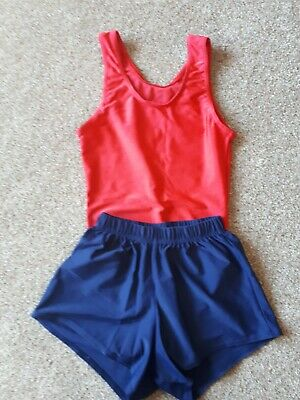 The Zone boys gymnastics leotard and shorts size 28""