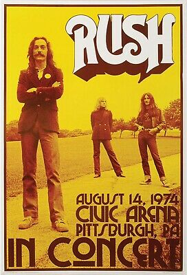 RUSH NEIL PEART CONCERT POSTER - 24x36 new and R30 backstage pass