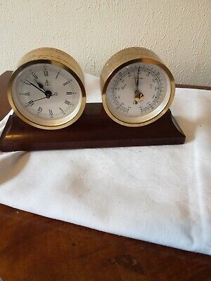 Desk Top Clock And Barometer Set German Made