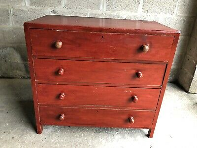 Antique Edwardian Solid Wood Chest Of Drawers Painted Shabby Chic?