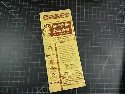 Vintage Recipe Booklet Mail Order Cakes Through The  Oven Door Helen Hiland