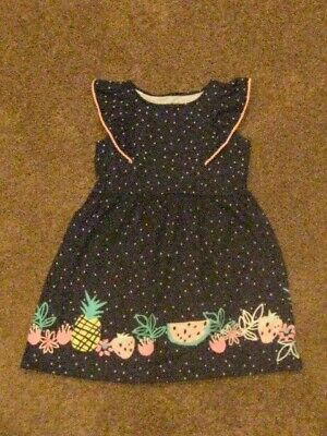 Jumping Beans   NWT  Girls Size 6 X    Navy/Pink Trim Flutter Dress