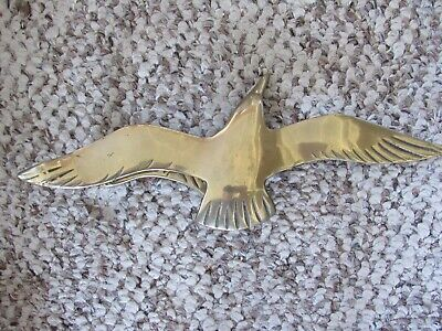 "REDUCED ~ Vintage Penco? Nautical Brass Seagull Door Knocker 10 1/2"" x 4"""