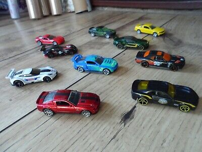 Toy Car Bundle x10 Hotwheels American Muscle Modern Chevy/Ford/Dodge/Shelby