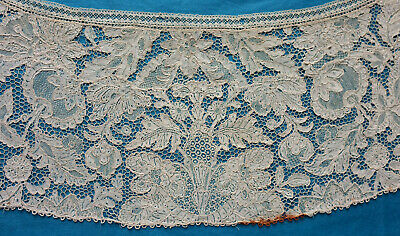 Antique 19th century bertha made from 18th century French needle lace
