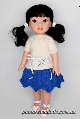 Handmade Outfit and Shoes for 14 inch American Girl Doll Wellie Wishers