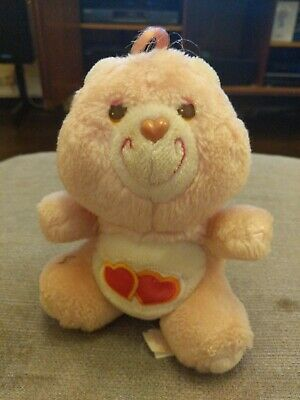 Care Bears - Love A Lot - Plush Teddy - Miniature - Vintage 1980s Toy 80s