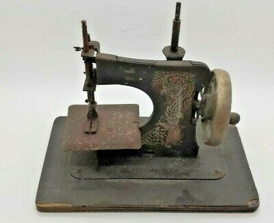 Antique Child's Toy Metal Miniature Sewing Machine