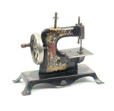 Antique Child's Toy Metal Miniature Sewing Machine c1900