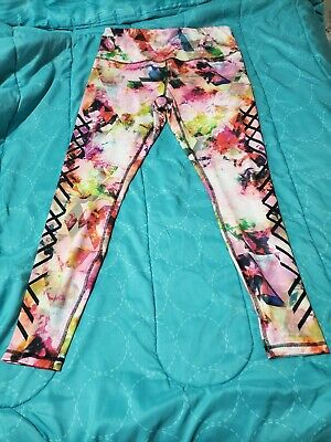 RBX Women's Leggings: Used once, Size Large, Floral Multicolor