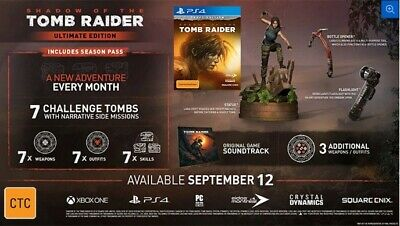Shadow Of The Tomb Raider - Ultimate Collector's Edition - Ps4 - Pre Order