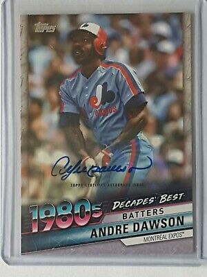 2020 Topps Series 1 Decades Best Andre Dawson SP Auto 23/25! WOW 1980's WOW