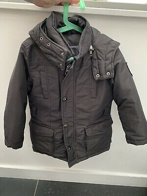 Black Scotch And Shrunk Coat / Jacket Age 4 Warm- Down Filled
