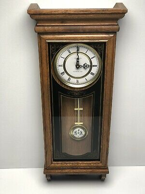 Vintage Verichron Wall Clock Quartz Movement Westminster Chime R&A Pendulum RUNS