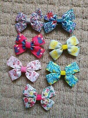 Girls 7 Hair Clips, Bows & Bobbles M2M Next Bundle Made to Match