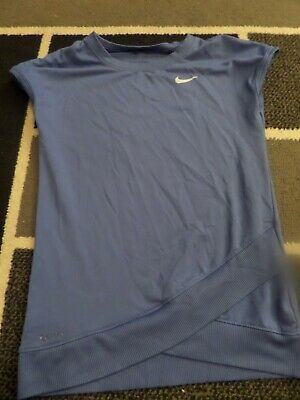 Girls Blue Nike Top Size 6-7 Yrs
