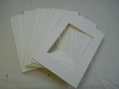 """Photo Mounts 8"""" x 6"""" white Pack of 12"""