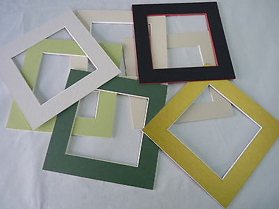 """6"""" square  Photo Mounts pack of 5 assorted colours"""