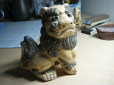 "Vintage Chinese Foo Dogs HAND PAINTED 61/2"" TALL"