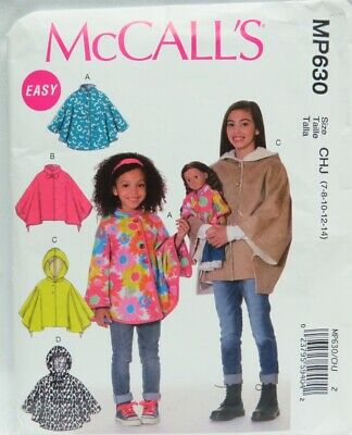 6yrs CROCHET PATTERN FOR CHILDRENS PONCHO /& MATCHING DOLLS PONCHO 2-4 C53