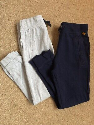 Jasper Conran Boys 2x 100% Cotton Trousers / Joggers - Navy And Grey, 3-4 Years