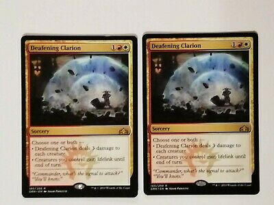 Guilds of Ravnica MTG Rare Deafening Clarion x 4 NM