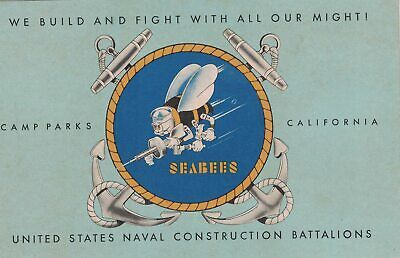 World War II Era,U S Navy Seabees Postcard, CampParks, CA
