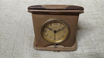 Junghans - Very Rare Antique (1925) German Mechanical Travel Clock With Alarm