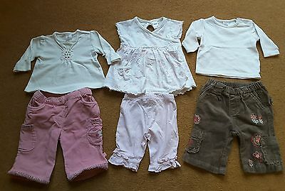 Next, Mothercare Baby Girl Outfit Top & Tousers Set Bundle of Three 0-3months