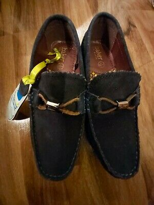 BNWT 👞Fantastic Ted Baker Boys Navy Suede Driver Shoes size UK1 EU 33👞